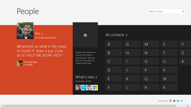 How to Tweet or Post a Facebook Status Update in Windows 8 (2)