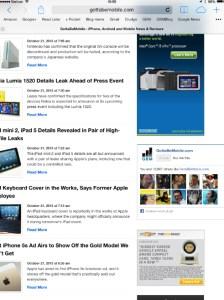 Translucency in Safari easier to see on iPad