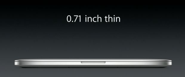 The new MacBook Pro Retina 13-inch is thinner and lighter.