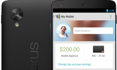 The Nexus 5 may not support Google Wallet.