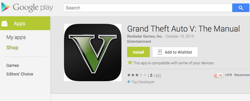 GTA 5 Manual Arrives as iFruit for Android Remains MIA