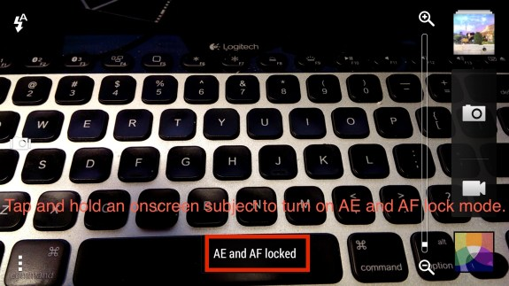 ae and af lock mode htc one camera