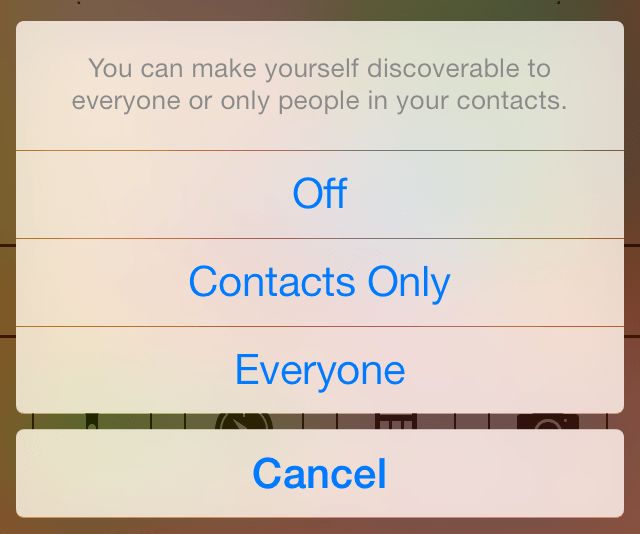 How to use airdrop in ios 7 youll be given a lot of different options but airdrop will show up at the top but below the photo whenever someone with airdrop enabled is nearby ccuart Images