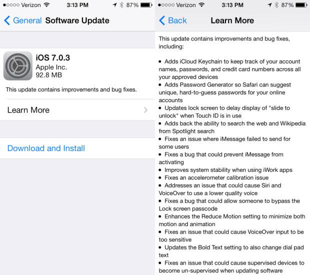 iOS-7.0.3-Update-Released