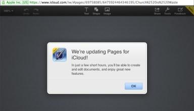 iwork for icloud update