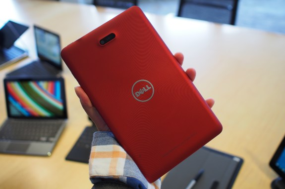 The Dell Venue 8 Pro along with the Dell XPS 11 Pro in the background.