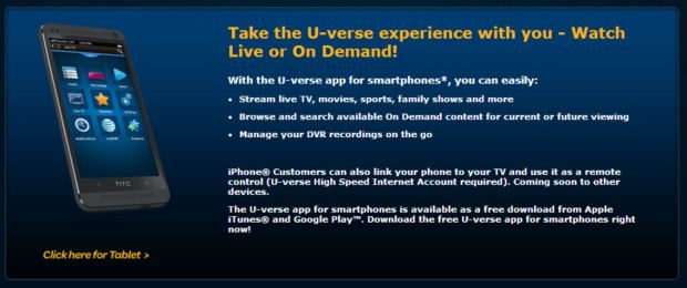AT&T Brings Live TV to Android, iOS with Uverse App