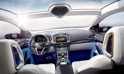 The Ford Edge concept shows the future of a self driving Ford.