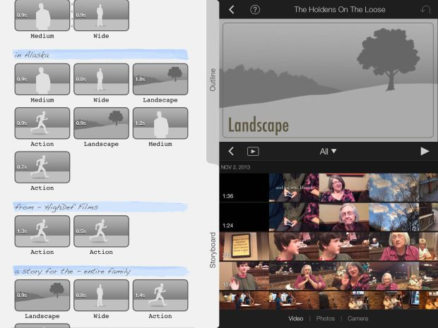 imovie for ipad trailer template
