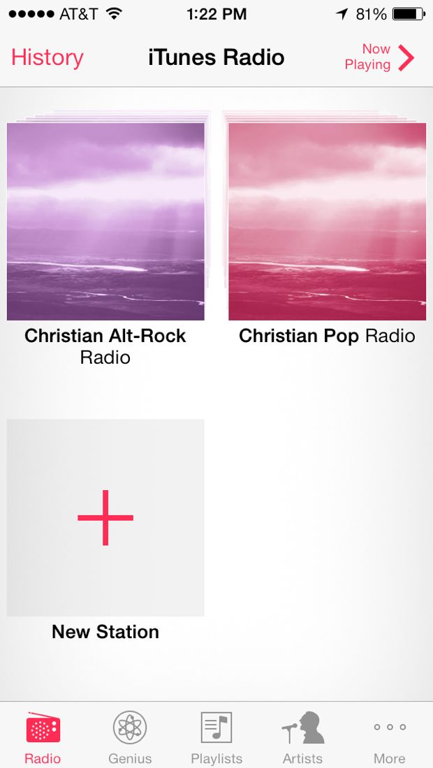 add radio in itunes radio on iphone
