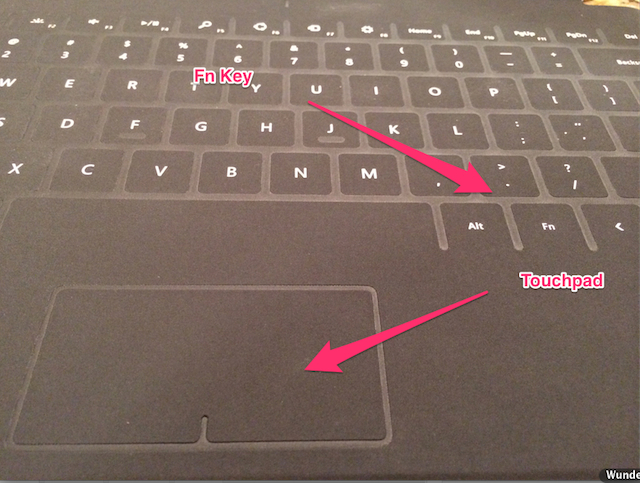 The Touchpad and the Fn Key