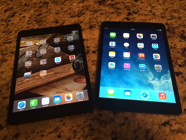 Side by Side with the original  iPad mini