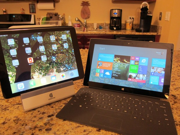 The iPad Air and the Surface 2