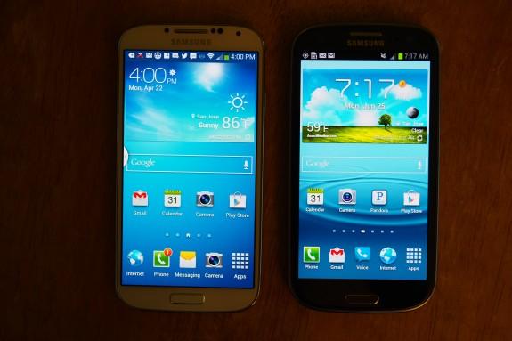 Galaxy S4 vs. Galaxy S3.