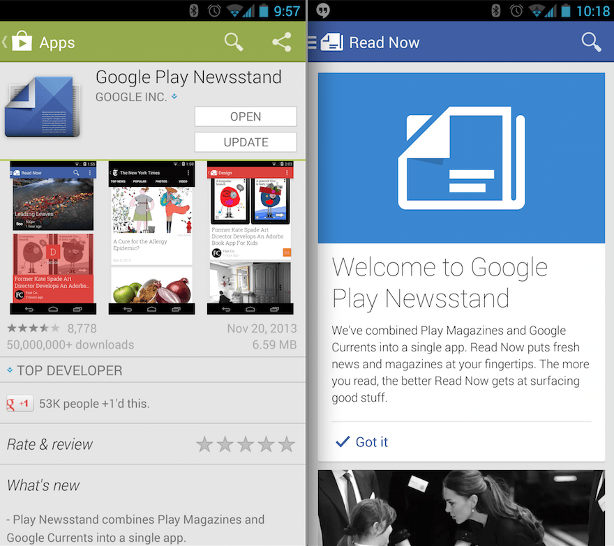 Google Newsstand App Delivers Magazines and News to Android