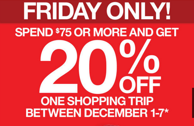 20% Off Everything with Minimum Black Friday Purchase