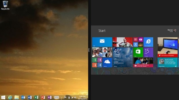Windows 8.1 RT has two faces: The Desktop and Metro