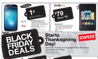 There are many Kindle Fire Black Friday 2013 deals at Staples, but you may want to skip the cheapest model.