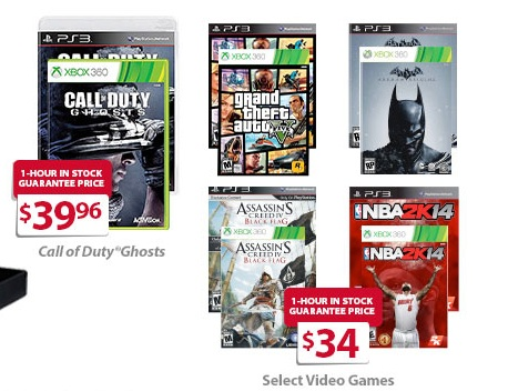 XBOX 360 and PS3 Games for $34, COD Ghosts for $39.96