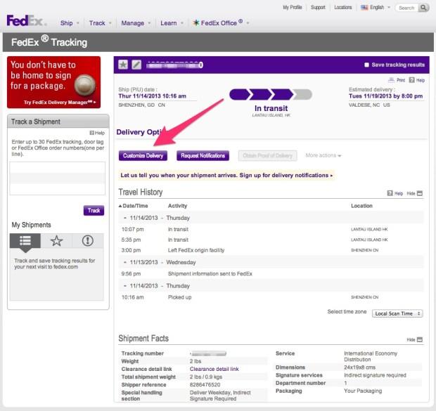 fedex tracking site