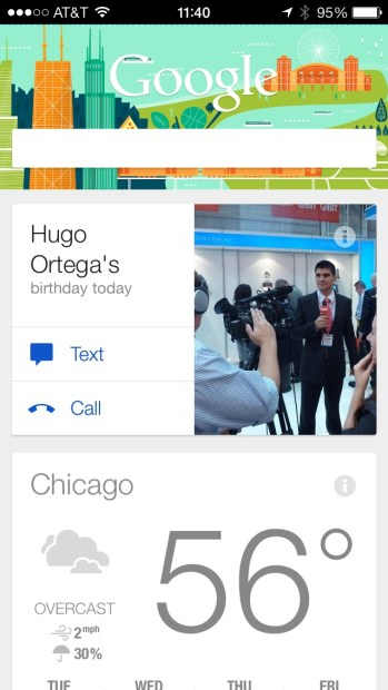 Google Now for iOS updated