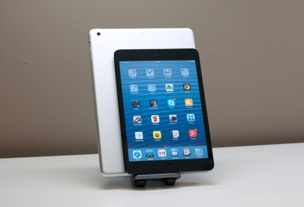 The iPad mini is $200 cheaper but comes with fewer options.