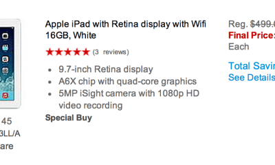 Staples offers a collection of iPad Black Friday 2013 deals.