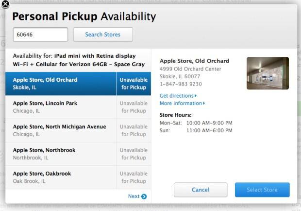 Apple announces Personal Pickup for iPad mini with Retina Display