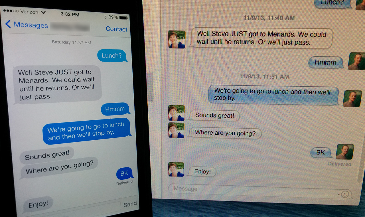 sync imessage between mac and iphone mountain lion