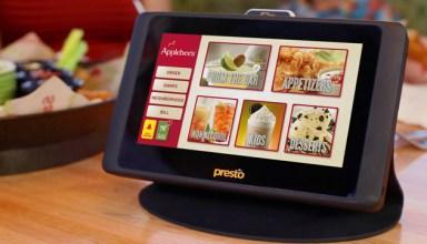presto ordering tablets at applebees