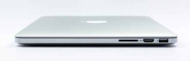 The SD card sticks out quite far on the MacBook Pro Retina.