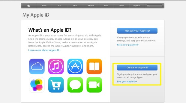 Create an Apple ID