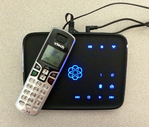 The Ooma service is a great home phone service for smart phone users.