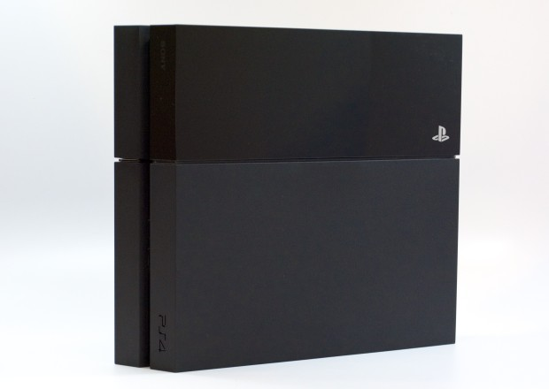 Place the PS4 vertically or horizontally in your entertainment stand.