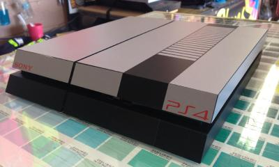 This PS4 skin makes the console look like a NES.