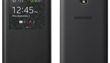 This Galaxy Note 3 case includes a window to see notifications and more.