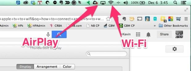 airplay and wi-fi menu bar icons
