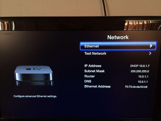 apple tv ethernet setup