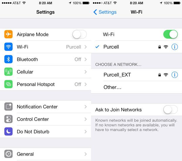 setting up wifi on ios