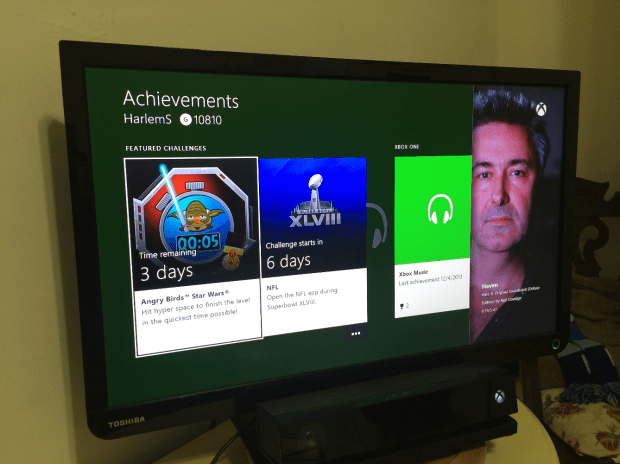 Snapping on the Xbox One allows users to run two apps side-by-side.