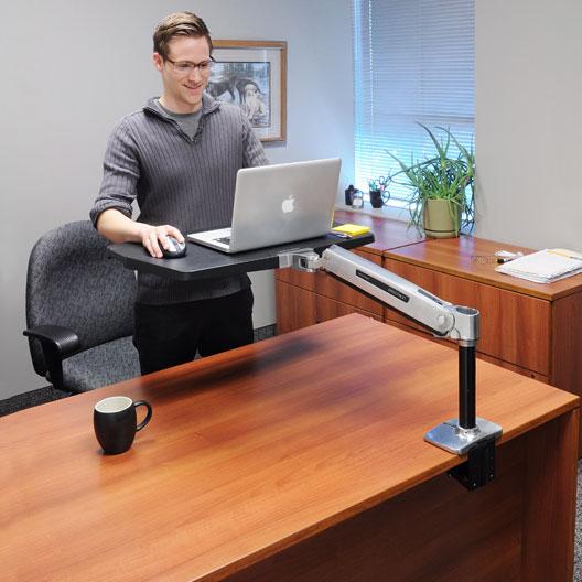 ergotron workfit p sit stand workstation