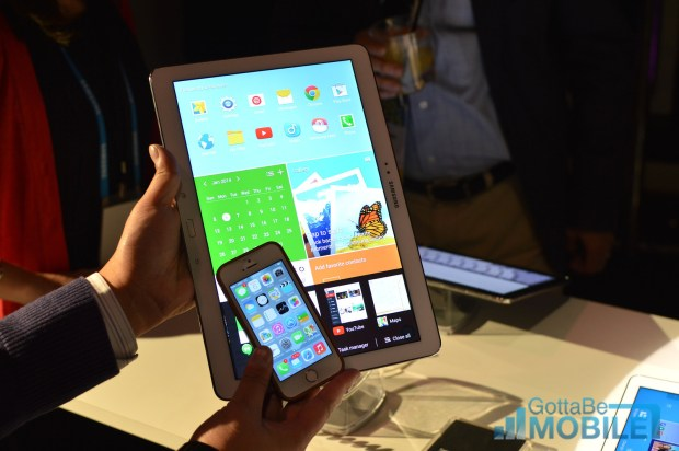 Galaxy Tab Pro 12.2 compared to the iPhone 5s