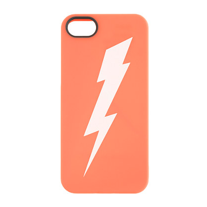 The lightning bolt on the back of this case glows in the dark.