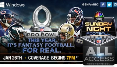 Watch the 2014 NFL Pro Bowl on the iPad, Android and other devices.