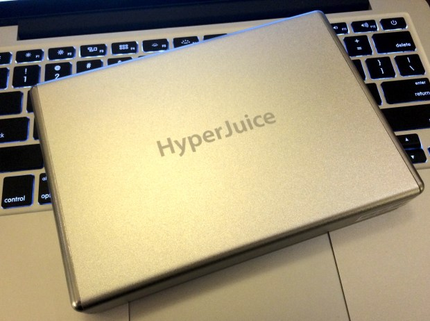 The Hyper Juice is a battery that can charge the Macbook Air & MacBook Pro Retina in my bag.