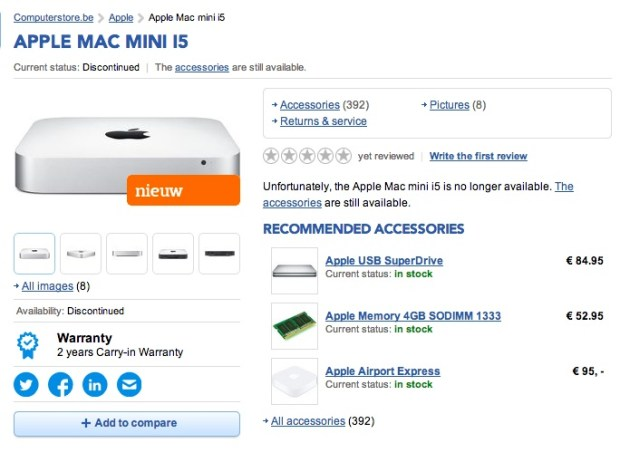 The new Mac mini 2014 model is reportedly coming in February.