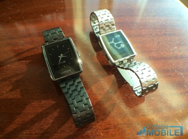 We go hands on with the Pebble Steel.