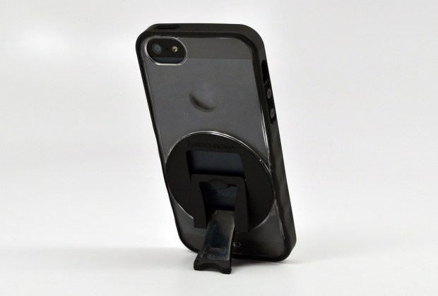 The ZeroChroma iPhone 5 case is thin, but includes a built-in kickstand.