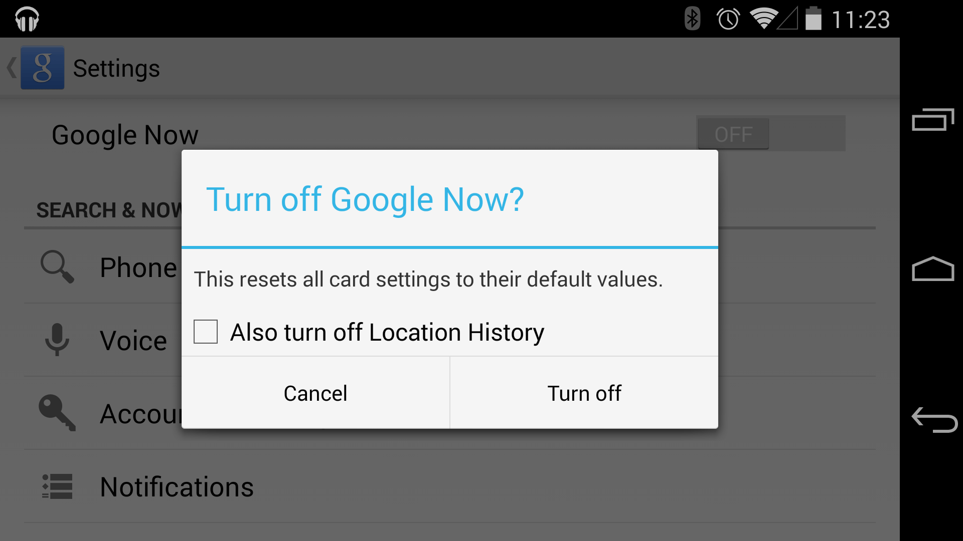 Open Google Now With The Quick Setting Above, Or Swipe To The Left And  Enter Android How To Delete Google Now Search History History