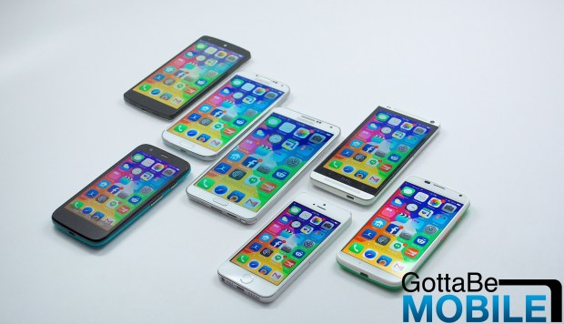 Showing what iOS looks like on rumored iPhone 6 screen sizes.